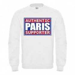 "Sweatshirt ""Authentic supporter Paris"""