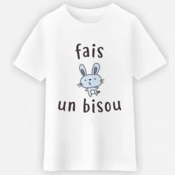 """T-shirt """"Fais un bisou"""""""