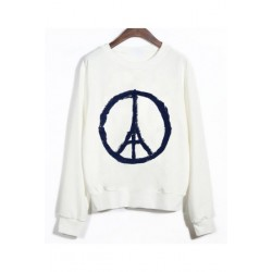 "Sweatshirt ""Peace and Love Paris"""