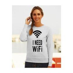 """Sweatshirt """"I need wifii"""""""