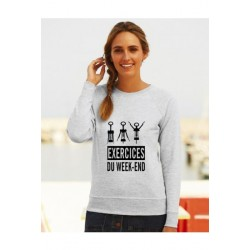 "Sweatshirt ""Exercices du week-end"""