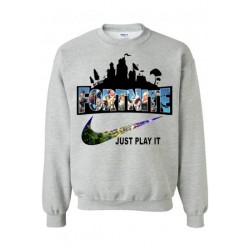"Sweatshirt ""Fortnite just play it"""
