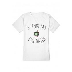 """T-shirt """"J'peux pas j'ai match"""""""