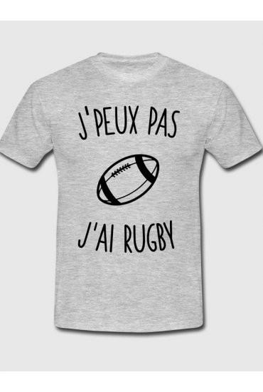 Je Peux Pas Jai Rugby Maillot De Joueur de Rugby T-Shirt Rugby