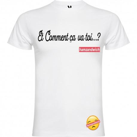 T-shirt pour homme en coton bio - Hamzandwich comment et comment ça va toi...?