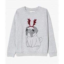 "Sweatshirt ""Bulldog spécial noël"""