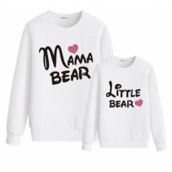 "Ensemble de deux sweatshirts ""Mama bear"" ""Little bear"""