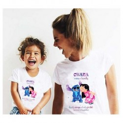 """Ensemble de deux T-shirts """"Lilo et Stitch"""""""