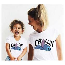 """Ensemble de deux T-shirts """"Chillin"""""""